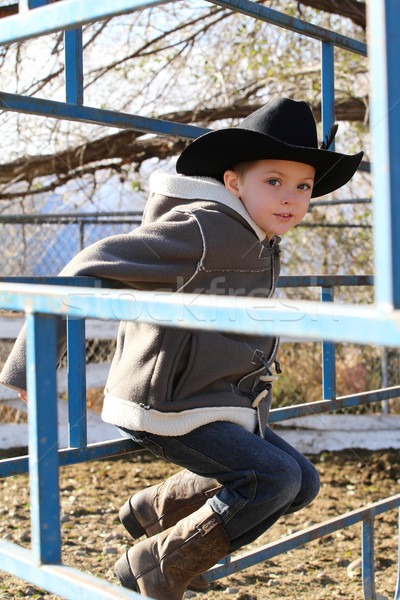 Young cowboy Stock photo © vanessavr
