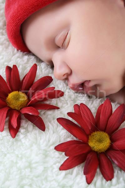 Stock photo: Sleeping Newborn