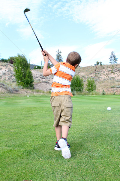 Young golfer Stock photo © vanessavr