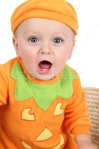 カボチャ 赤ちゃん 衣装 白 オレンジ 肖像 ストックフォト © vanessavr