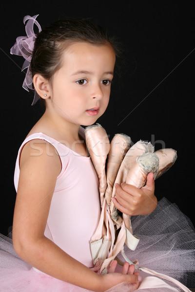 балет девушки Cute брюнетка ребенка Сток-фото © vanessavr