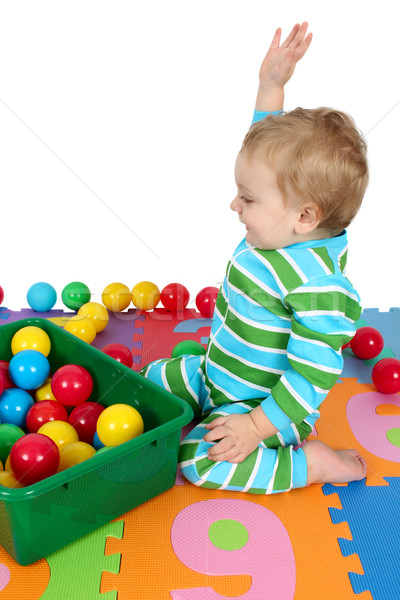весело Cute играет числа Сток-фото © vanessavr