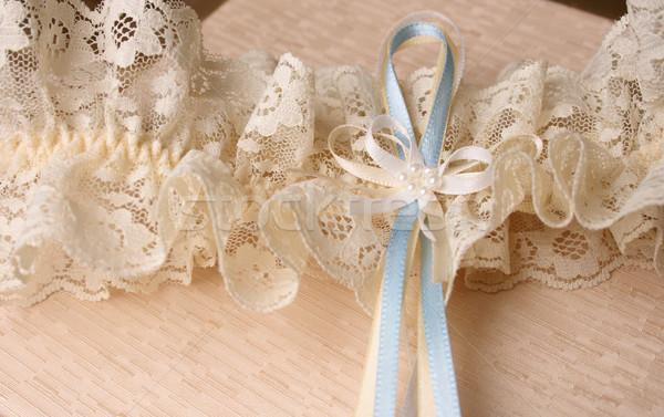 Niebieski krem kolorowy biżuteria polu Zdjęcia stock © vanessavr