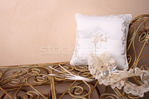 Stock photo: Ring Pillow and Garter