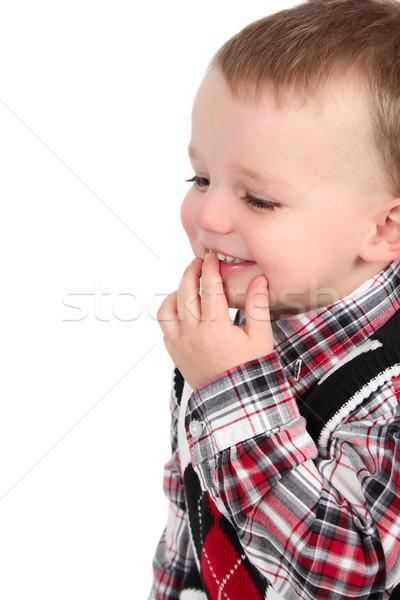 少年 かわいい 白 笑顔 ストックフォト © vanessavr