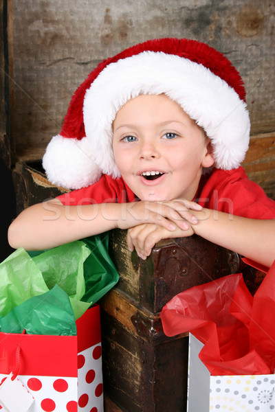 Foto stock: Navidad · nino · sesión · dentro · antiguos