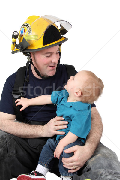Fireman dad Stock photo © vanessavr