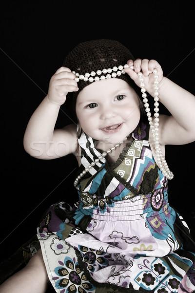девушки красивой мало играет строку Сток-фото © vanessavr