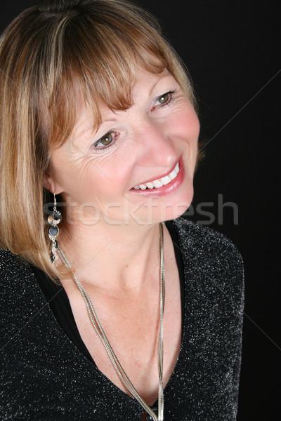 Szőke női gyönyörű fekete nő divat Stock fotó © vanessavr