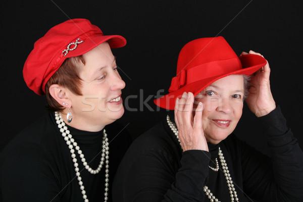 матери дочь взрослый красный Сток-фото © vanessavr