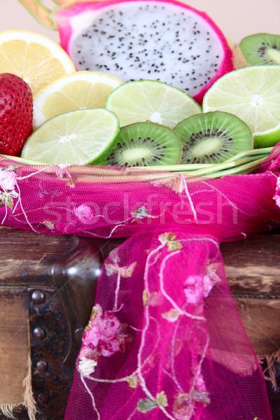 Fruit basket Stock photo © vanessavr