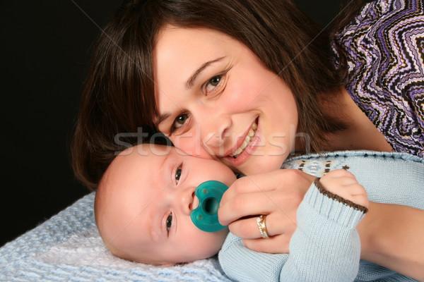 матери сын красивой брюнетка ребенка мальчика Сток-фото © vanessavr