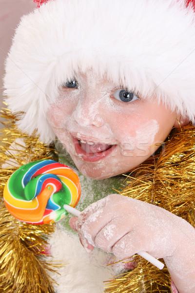 Natale lollipop premiare cottura cookies Foto d'archivio © vanessavr