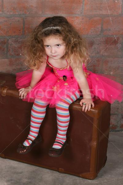 Marzyciel dziewczynka dziewczyna dziecko włosy Zdjęcia stock © vanessavr