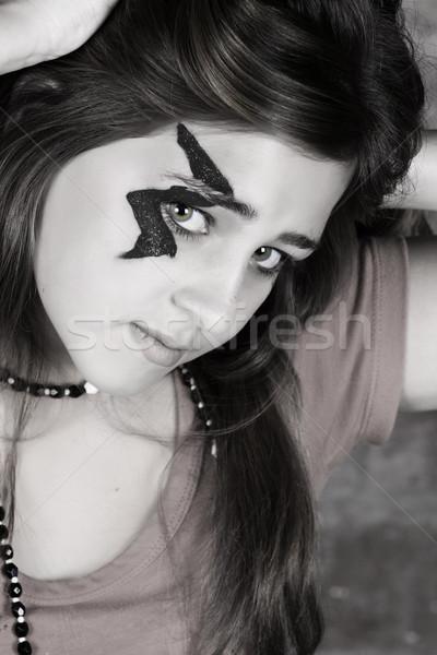 Хэллоуин подростков изображение подростку макияж Сток-фото © vanessavr
