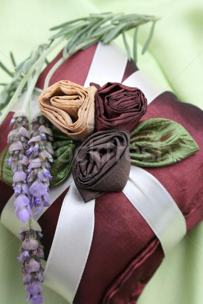 香り 枕 新鮮な 緑 ファブリック ストックフォト © vanessavr