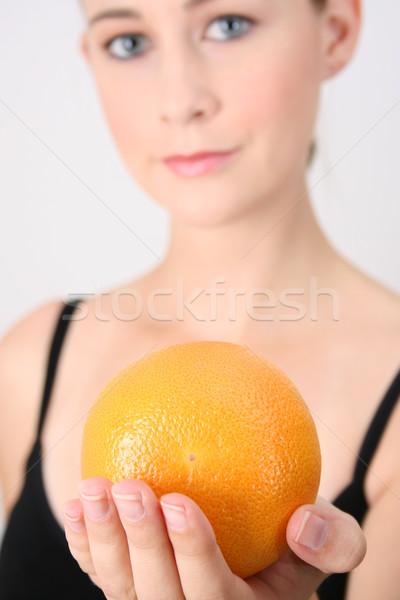 спортзал девушки оранжевый Focus Сток-фото © vanessavr