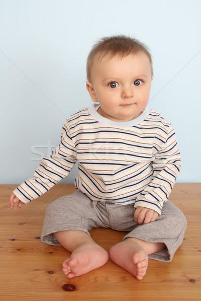 赤ちゃん 少年 かわいい 着用 縞模様の シャツ ストックフォト © vanessavr