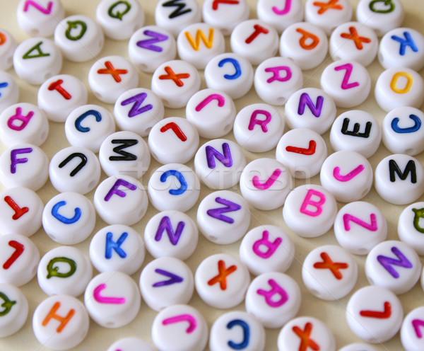 письма небольшой красочный различный белый Сток-фото © vanessavr