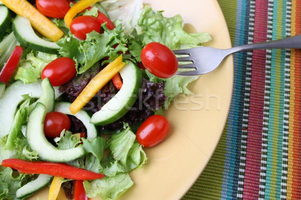 Salad with tomato Stock photo © vanessavr