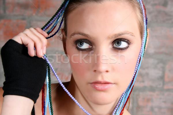 Female Model with Beads Stock photo © vanessavr