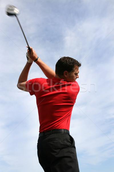 Jóvenes golfista conductor azul cielo nubes Foto stock © vanessavr