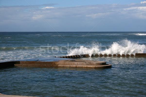 Ozean Pool Schwimmbad Hochwasser Wasser Meer Stock foto © vanessavr
