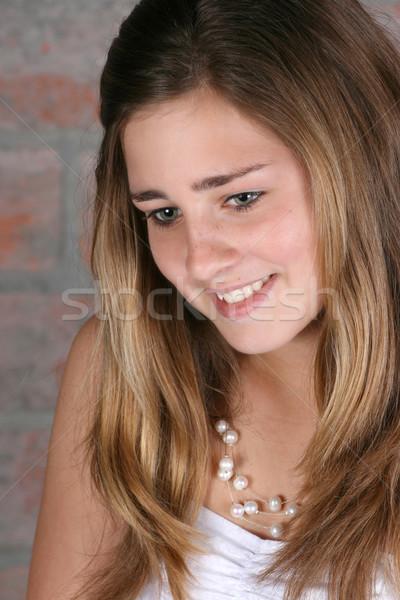 美しい 代 十代の 女性 天使のような 顔 ストックフォト © vanessavr