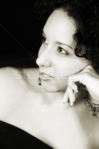 Serious lady Stock photo © vanessavr