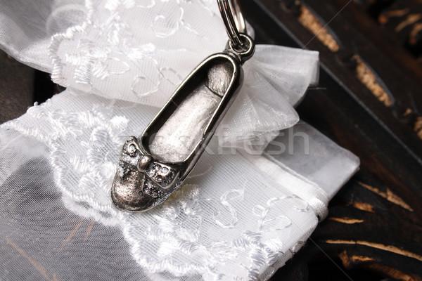 Silver Flat Shoe Stock photo © vanessavr
