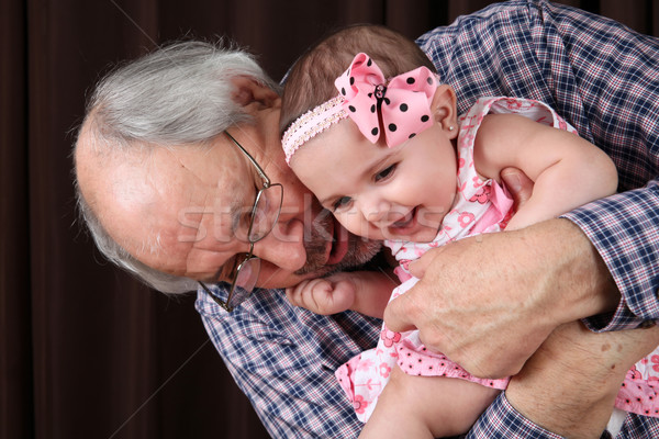 Grandfather and granddaughter Stock photo © vanessavr