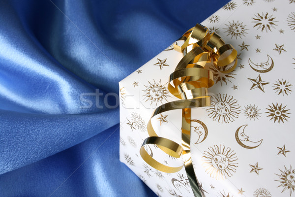 Рождества подарки настоящее лента ткань Сток-фото © vanessavr