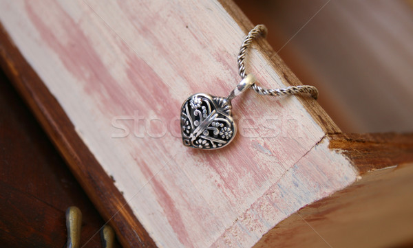 Silver Heart Jewellery Stock photo © vanessavr