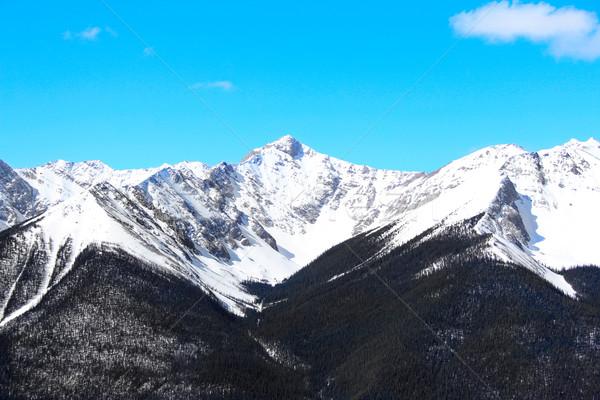 山 雪 カバー 早い 春 水 ストックフォト © vanessavr