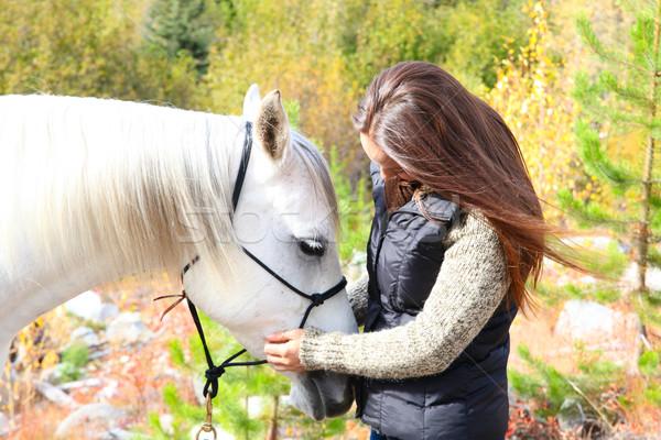 Brunette cowgirl Stock photo © vanessavr