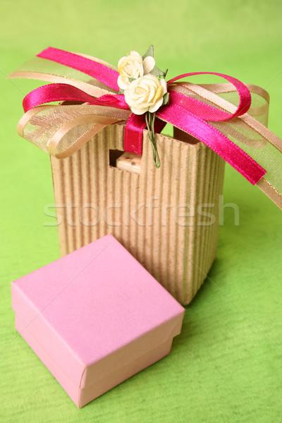 Pink Gift Box Stock photo © vanessavr