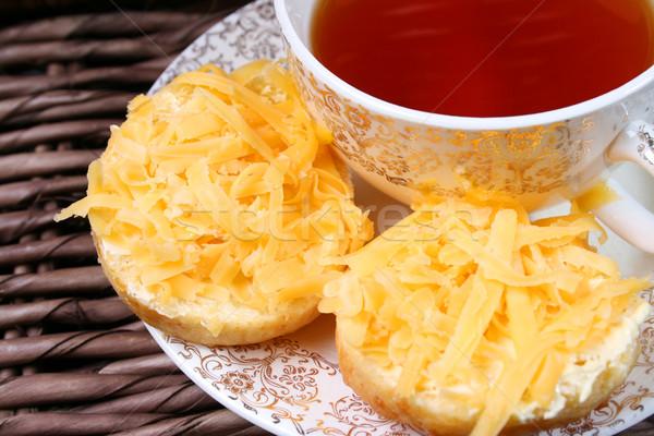 Kora reggel korai tea étel háttér sajt Stock fotó © vanessavr
