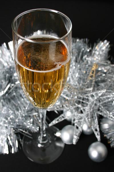 Рождества пить стекла вино серебро Сток-фото © vanessavr