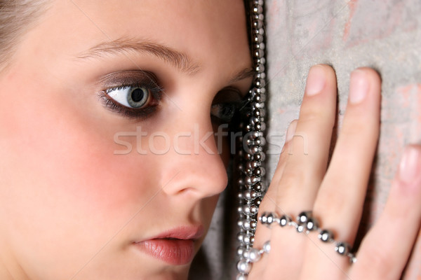 Female Model with Beads Stock photo © vanessavr