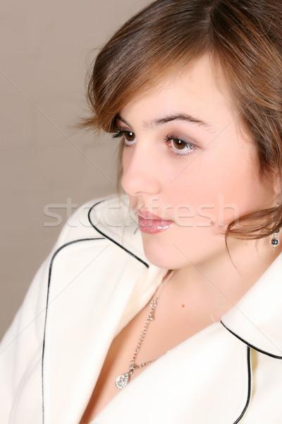 молодые женщины подростку кремом Сток-фото © vanessavr