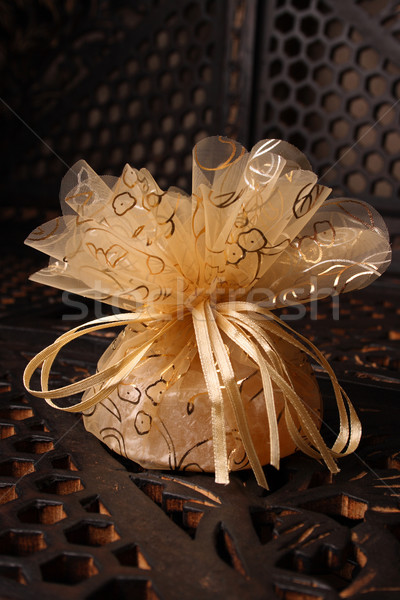 Golden Favour with ribbon Stock photo © vanessavr