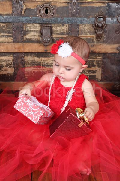 Рождества ребенка брюнетка долго Сток-фото © vanessavr