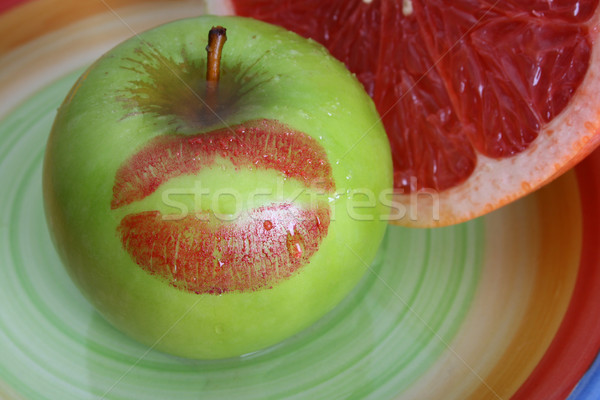 Apple and Pomelo Stock photo © vanessavr