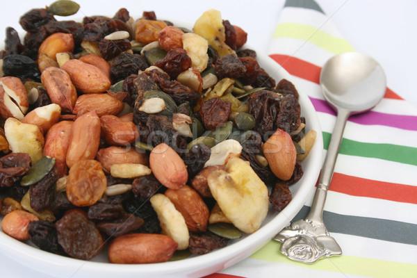 чаши орехи изюм другой сушат плодов Сток-фото © vanessavr