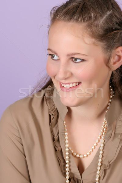 подростку красивой женщины Purple Сток-фото © vanessavr