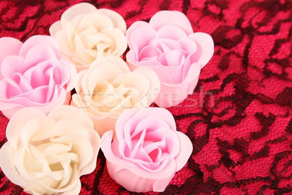 мыло цветы розовый белые цветы из фон Сток-фото © vanessavr