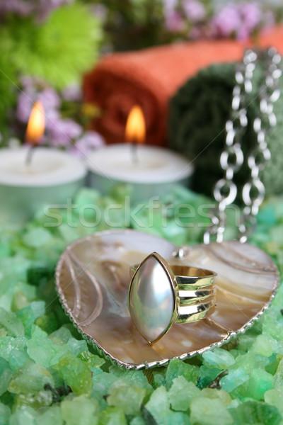 Spa день лице свечей ювелирные изделия Сток-фото © vanessavr