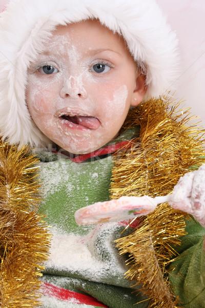 Christmas lizak wynagradzać cookie Zdjęcia stock © vanessavr