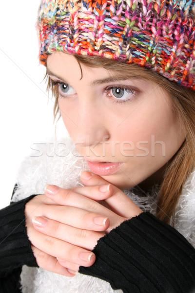 зима подростков красивой молодые подростку Сток-фото © vanessavr