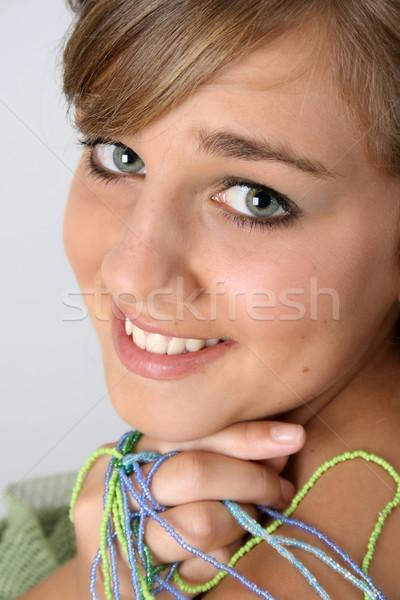 Belle Teen adolescent Homme angélique visage Photo stock © vanessavr